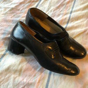 VTG 50s Black Heeled Shoes